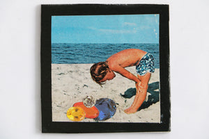 Mini Collage Magnet- Beach Comber