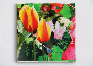 Mini Collage Magnet- Tulip Tree