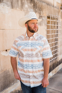 Alta Aztec Mens Short Sleeve Shirt - Pistols and Petticoats