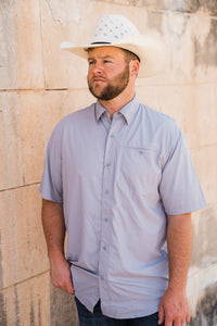 VentTek Men's Fishing Style Shirt (Sleet) - Pistols and Petticoats