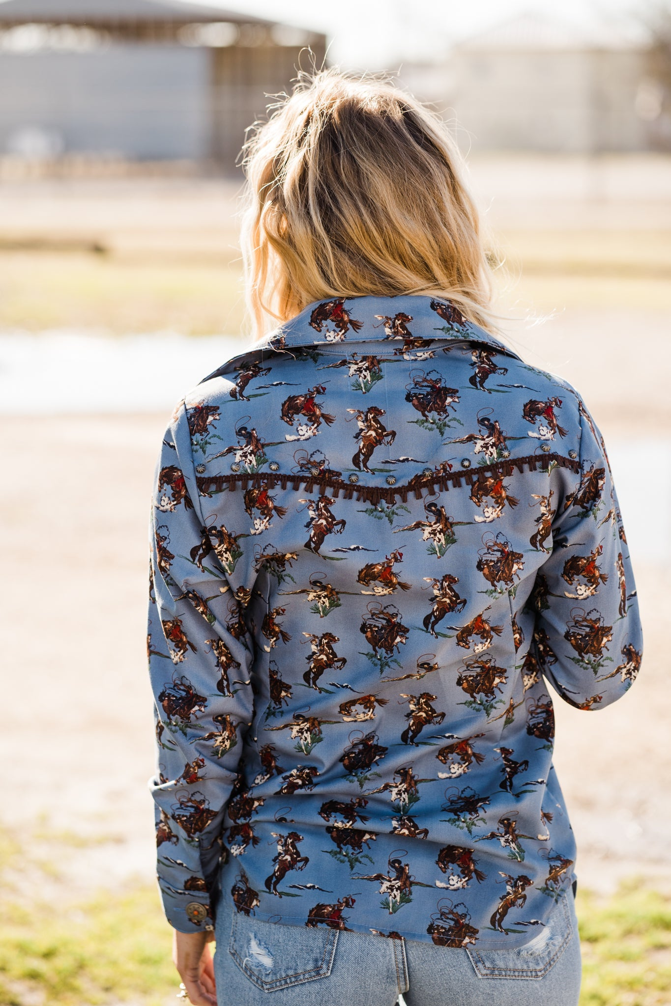 Cowgirl Round Up Olivia Shirt - Pistols and Petticoats