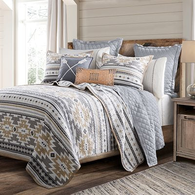 Desert Sage King Size 3 Piece Quilt Set
