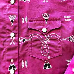 The Navajo Girls Long Sleeve Snap Shirt - Pistols and Petticoats