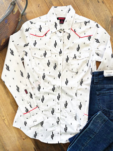 Charcoal Cactus Western Shirt