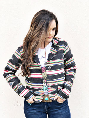 Tribal Black Jacket - Pistols and Petticoats