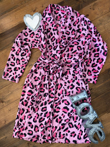 Lucy Leopard Robe