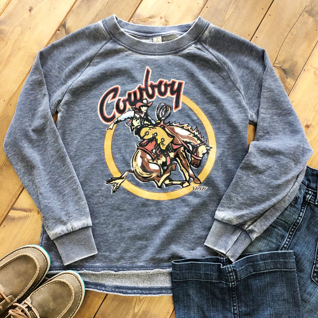 Cowboy Circle Sweatshirt - Pistols and Petticoats