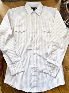 Men's Satin Dobby Stripe Long Sleeve Shirt