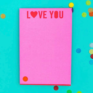 Love You 4x6 Notepad