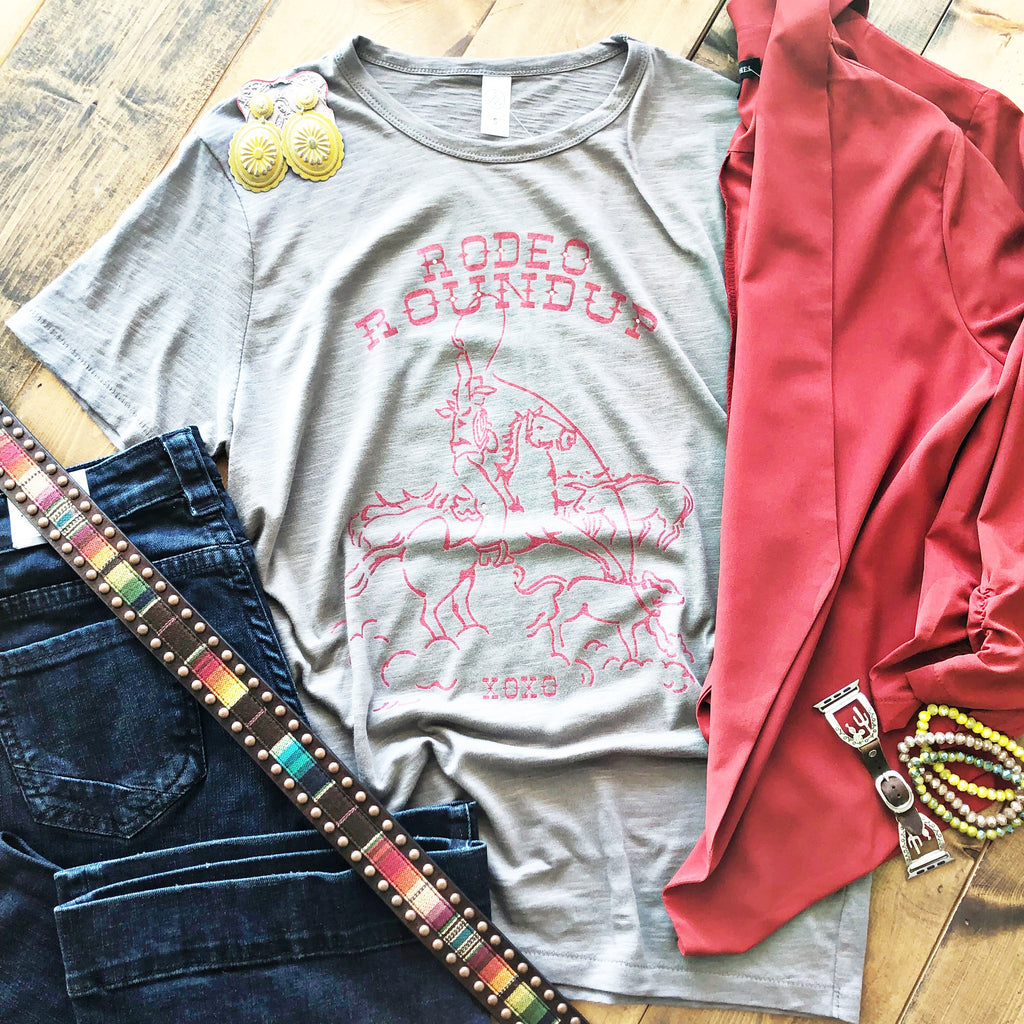 Cattle Rodeo Roundup Graphic Tee - Pistols and Petticoats