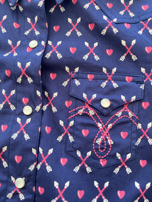 Arrows & Hearts Girls Long Sleeve Shirt - Pistols and Petticoats