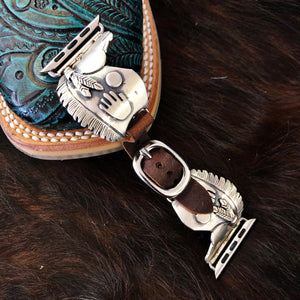Wild Horse Watchin Bands Silver Smiling War Horse