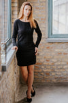 Knitted little black dress in Dress - New York Black Dress