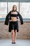 Black cape, black lace shorts SET in set - New York Black Dress
