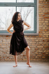Black mini wrap dress in Dress - New York Black Dress
