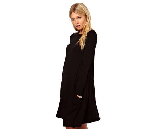 Tunic with large pockets in  - New York Black Dress
