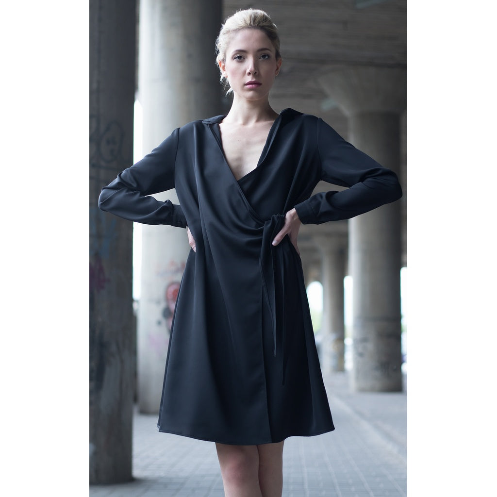Black short shirt dress in  - New York Black Dress