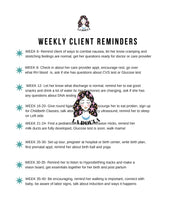 WEEKLY CLIENT REMINDERS