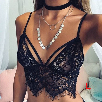Sexy Sheer Lace Crop Bustier Top. (2 Colors Available)