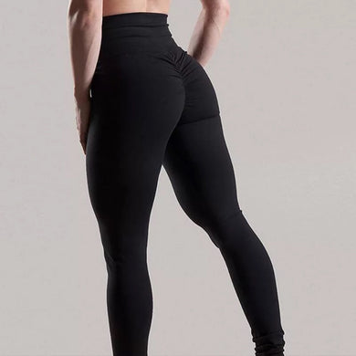 High Waist Ruched Push Up Fitness Leggings. (7 Colors Available)