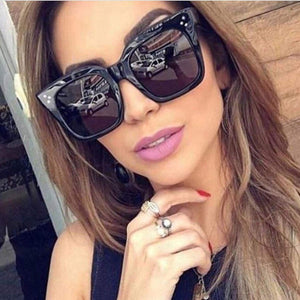 Flat Top Rivet Luxury Brand Designer Sunglasses. (5 Colors Available)