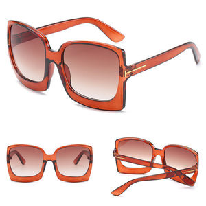 Oversized Square Angled Brand Designer Gradient Sunglasses. (7 Colors Available)