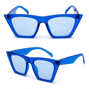 Cat Eyes Squared Angles Brand Designer Sunglasses. (8 Colors Available)