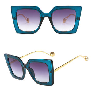 Cat Eye Squared Angle Luxury Brand Designer Sunglasses. (7 Colors Available)