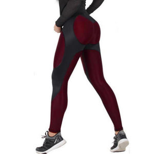 High Elastic Patchwork Thick Fitness Leggings. (Quick-Dry Sports Tights)