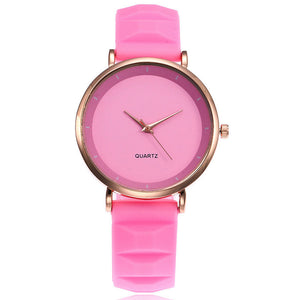 Stainless Steel Case Silicone Band Designer Wristwatch. (8 Colors Available)