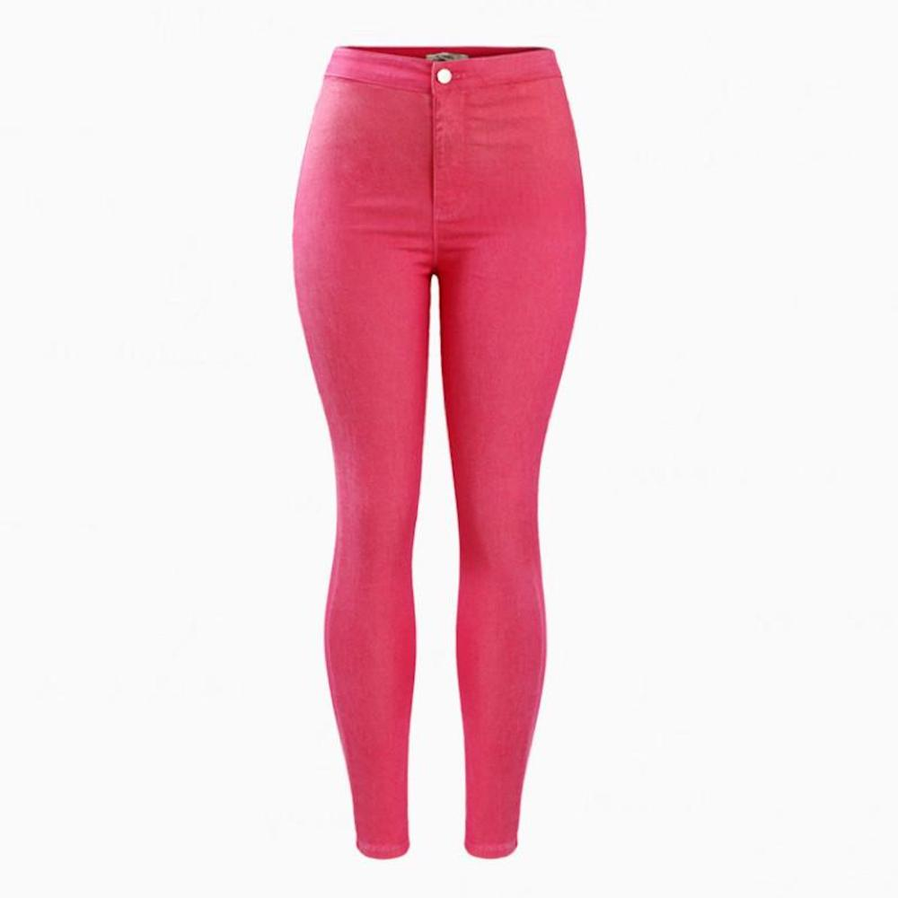 High Waist Stretch Skinny Denim Jean Pants.