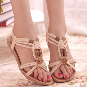 Casual Back Strap Gladiator Flat Sandals. (3 Colors Available)