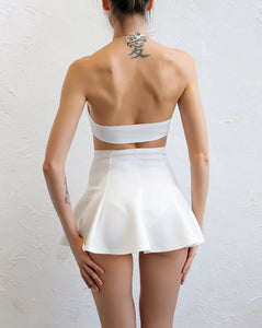 Mini Off Shoulder Stitching Halter Two Piece Set.