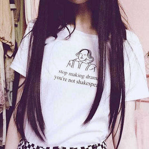 Stop Making Drama Graphic Quoted T-Shirt Top.