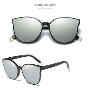 Women Proud Demon Designer Luxury Flat Top Cat Eye Sunglasses. (Alloy Frame + 6 Colors Available)