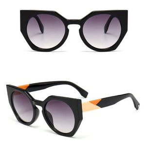 Oversized Butterfly Style Multi-Tone Frame Brand Designer Sunglasses. (5 Styles Available)