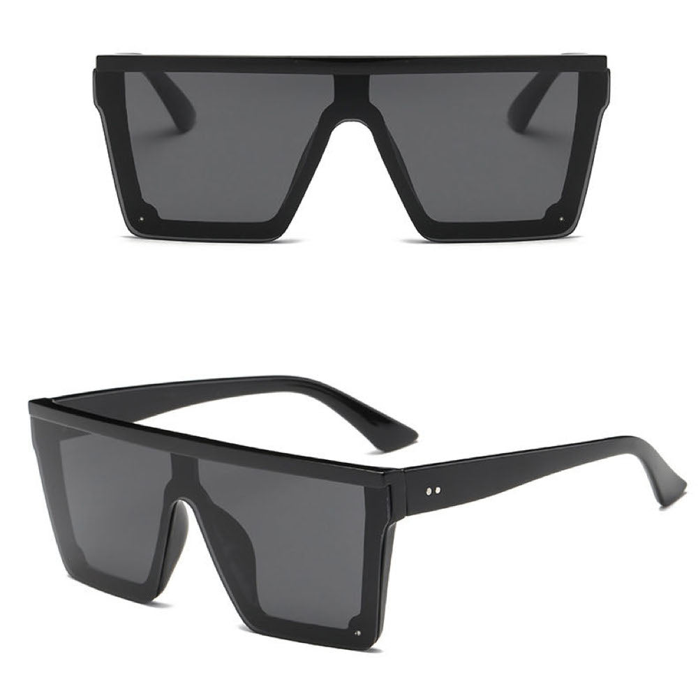 Big Frame Oversized Flat Top Rivet Vintage Sunglasses. (5 Colors Available)