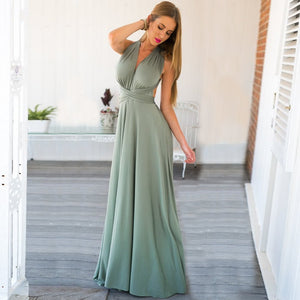 Sleeveless Multiway Bandage Boho Maxi Robe Dress. (14 Colors Available)