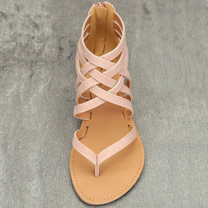 Casual Rome Style Gladiator Flat Sandals. (2 Colors Available)