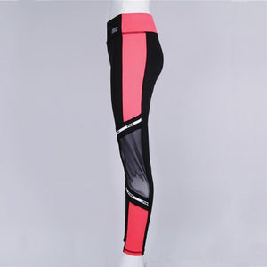 High Waist Love Pink Letter Print Fitness Leggings. (Quick-Dry Slim Tights)