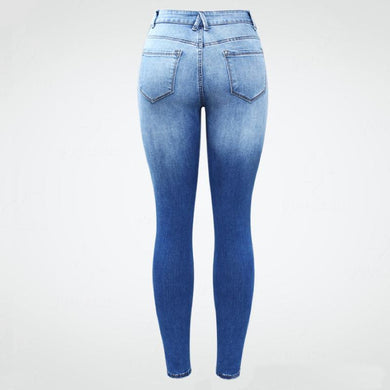 Stretchy Side Stripe Faded Skinny Denim Jean Pants.