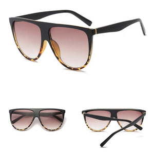 Flat Top Oversized Vintage Retro Sunglasses. (9 Colors Available)