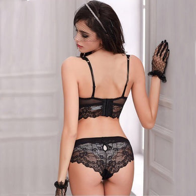 Padded Push Up Lingerie Lace Two Piece Set. (3 Colors Available)
