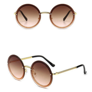 Luxury Brand Designer Vintage Retro Round Sunglasses. (7 Colors Available)