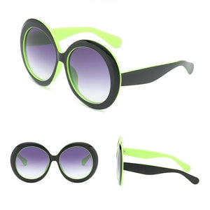 Big Frame Oversized Circle Gradient Vintage Sunglasses. (6 Colors Available)