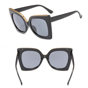 Bow Shaped Oversized Cat Eye Vintage Retro Sunglasses. (7 Colors Available)
