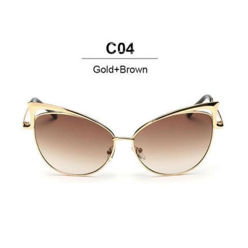 Women Proud Demon Designer Cat Eye Luxury Sunglasses. (Alloy Frame + 7 Colors Available)