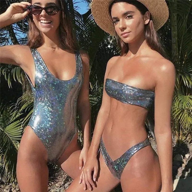 Metallic Shine One & Two Piece Bikinis. (2 Colors Available)