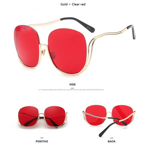 Women Luxury Designer Oversized Rimless Gradient Sunglasses. (9 Colors Available)