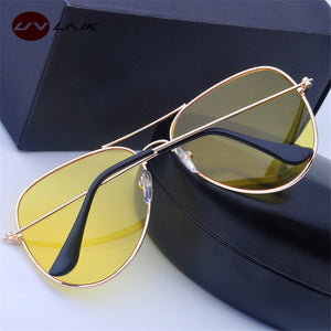 Women Polarized Night Vision Designer Sunglasses. (Alloy Frame + 4 Colors Available)